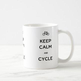 平静および周期を保って下さい コーヒーマグカップ