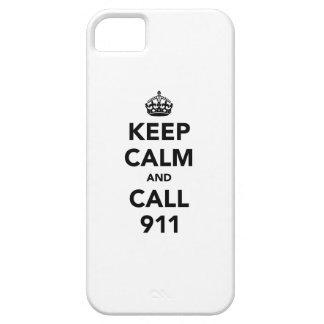 平静および呼出し911を保って下さい iPhone SE/5/5s ケース