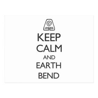 平静および地球のくねりを保って下さい ポストカード