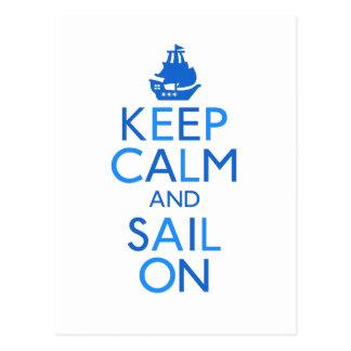 平静および帆を保って下さい ポストカード