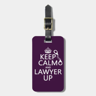 平静および弁護士を保って下さい(どの色でも) ラゲッジタグ