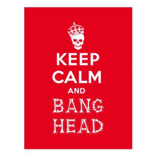 平静および強打の頭部を保って下さい!! (白いver。) ポストカード