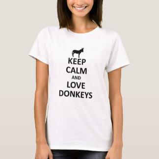 平静および愛ろばを飼って下さい Tシャツ
