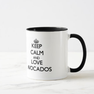 平静および愛アボカドを保存して下さい マグカップ