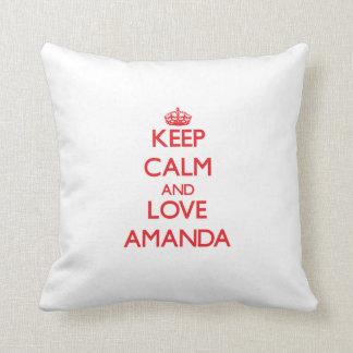 平静および愛アマンダを保って下さい クッション