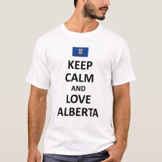平静および愛アルバータを保って下さい Tシャツ