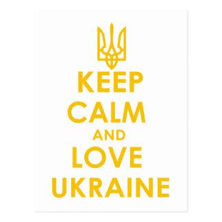平静および愛ウクライナを保って下さい ポストカード