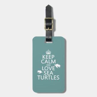 平静および愛ウミガメを飼って下さい ラゲッジタグ