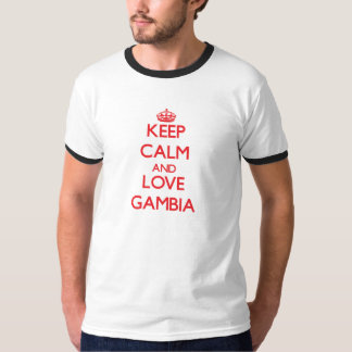 平静および愛ガンビアを保って下さい Tシャツ