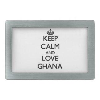 平静および愛ガーナを保って下さい 長方形ベルトバックル