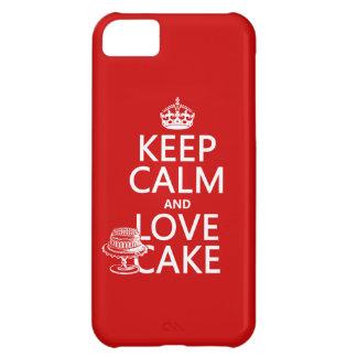 平静および愛ケーキを保って下さい iPhone5Cケース