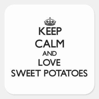 平静および愛サツマイモを保存して下さい スクエアシール