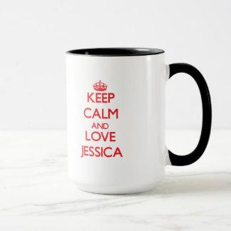 平静および愛ジェシカを保って下さい マグカップ