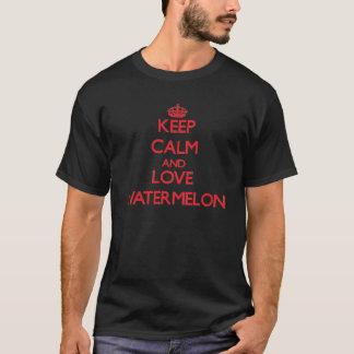 平静および愛スイカを保存して下さい Tシャツ