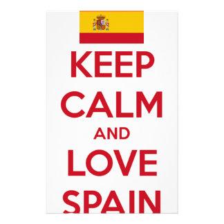 平静および愛スペインを保って下さい 便箋