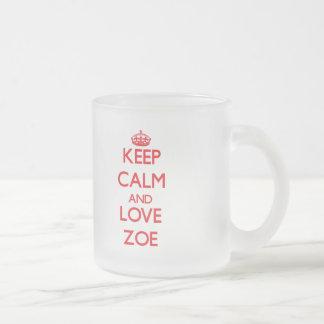 平静および愛ソエを保って下さい フロストグラスマグカップ