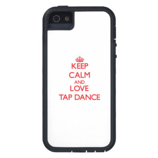 平静および愛タップダンスを保って下さい iPhone 5 COVER