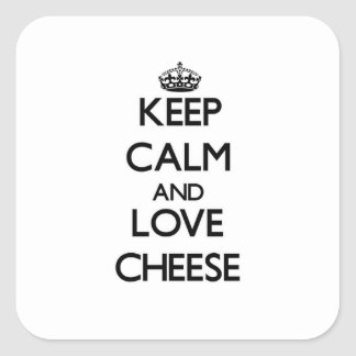 平静および愛チーズを保存して下さい スクエアシール