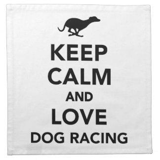 平静および愛ドッグレースを保って下さい ナプキンクロス