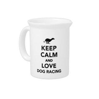 平静および愛ドッグレースを保って下さい ピッチャー