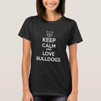 平静および愛ブルドッグを飼って下さい Tシャツ