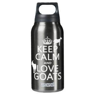 平静および愛ヤギを飼って下さい 断熱ウォーターボトル