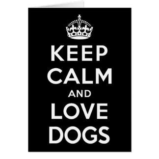 平静および愛犬を飼って下さい カード