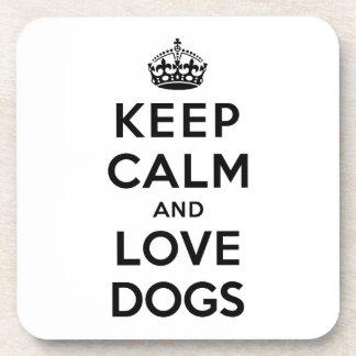 平静および愛犬を飼って下さい コースター