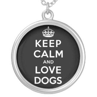 平静および愛犬を飼って下さい シルバープレートネックレス