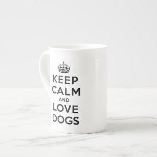 平静および愛犬を飼って下さい ボーンチャイナカップ