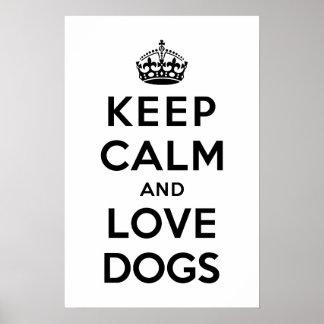平静および愛犬を飼って下さい ポスター