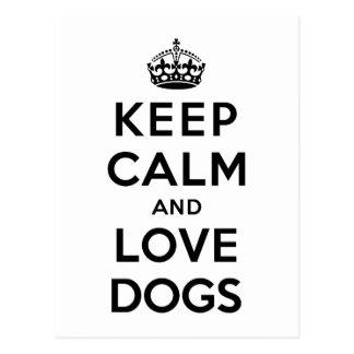 平静および愛犬を飼って下さい ポストカード
