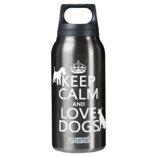 平静および愛犬-すべての色--を飼って下さい 断熱ウォーターボトル