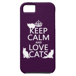平静および愛猫を飼って下さい(あらゆる色で) iPhone SE/5/5s ケース