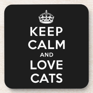 平静および愛猫を飼って下さい コースター