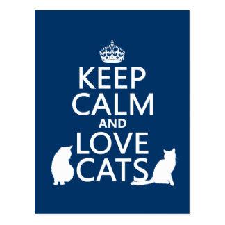 平静および愛猫を飼って下さい ポストカード