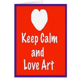 平静および愛芸術のカードおよび封筒を保って下さい カード