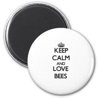 平静および愛蜂を飼って下さい マグネット