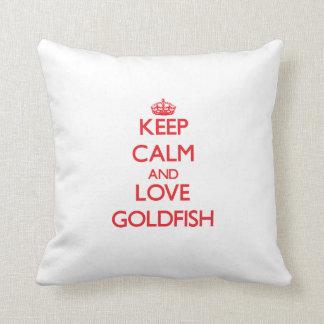 平静および愛金魚を飼って下さい クッション