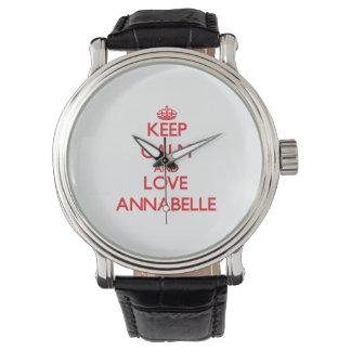 平静および愛Annabelleを保って下さい 腕時計