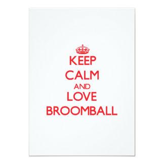 平静および愛Broomballを保って下さい カード