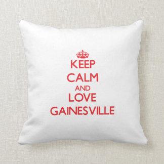 平静および愛Gainesvilleを保って下さい クッション