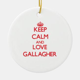 平静および愛Gallagherを保って下さい セラミックオーナメント
