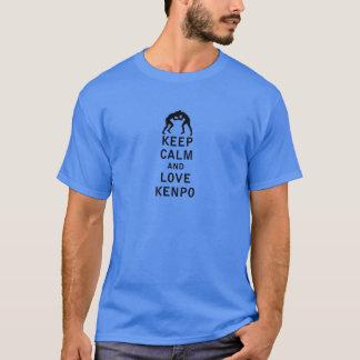 平静および愛Kenpoを保って下さい Tシャツ