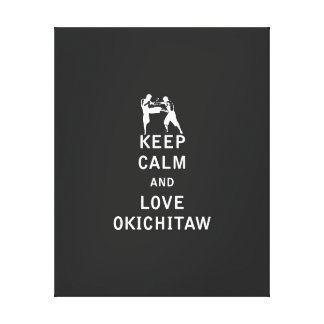 平静および愛Okichitawを保って下さい キャンバスプリント