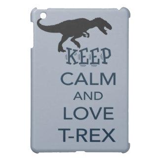 平静および愛Tレックスのユニークな恐竜のデザインを保って下さい iPad MINIカバー