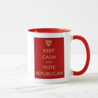 """""""平静および投票共和党員""""のマグを保って下さい マグカップ"""