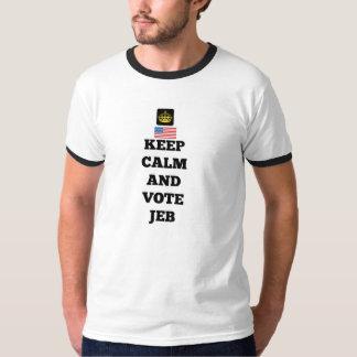 平静および投票Jebを保って下さい Tシャツ