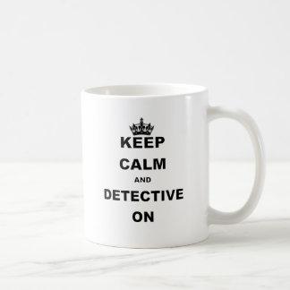 平静および探偵を保って下さい コーヒーマグカップ