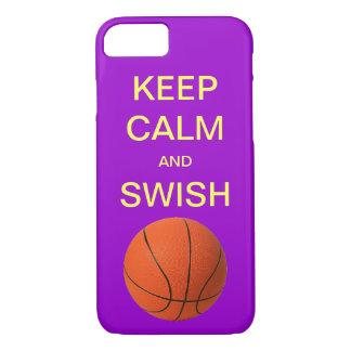 平静および棒のバスケットボールのiPhone 7の場合を保って下さい iPhone 8/7ケース